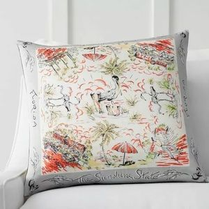 Pottery Barn Florida Scarf print pillow cover
